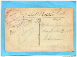 Marcophilie-14-18-Service Santé- Cachet Hopital Bénévole N°27-Hopital Cazin Perrochaud- Cpa Animée Berck - Marcophilie (Lettres)