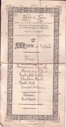 SPA MENU Repas Hôtel De LAEKEN, Rue Léopold, Faisant Partie De L'établissement Des Bains Octobre 1897 En Principe - Menus