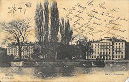 Genève - Ile Jean-Jacques Rousseau - Carte Précurseur C.P.N. N° 1119 - GE Geneva