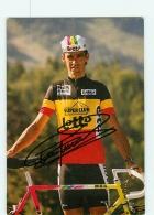Claude CRIQUIELION, Champion De Belgique , Autographe Manuscrit, Dédicace . 2 Scans. Cyclisme. Lotto - Cycling