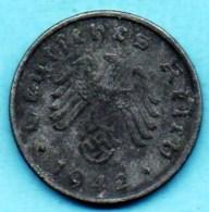 R7/ GERMANY  3° REICH   10  REICHS PFENNIG  1942 G