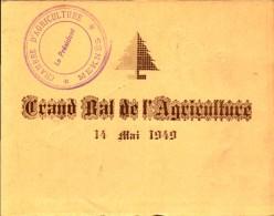 Maroc, Meknes, Chambre D Agriculture De Meknes, Carte D Invitaton,  Grand Bal De L Agriculture, 1949 (bon Etat) - Cartes