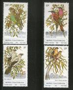 Bophuthatswana 1980 Birds Babbler Parrot Whydah Wildlife Fauna Sc 60-3 MNH # 1428 - Parrots