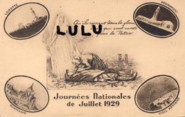 MILITARIA : Qu Ils Reposent Dans La Gloire , Journée Nationales De Juillet 1929 ( Lorette Douamont Vieil Armand Dormans) - Patriottiche