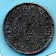 R7/ GERMANY  3° REICH   10  REICHS PFENNIG  1941 B