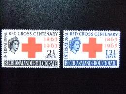 BECHUANALAND 1963 CENTENAIRE De La CROIX ROUGE Yvert Nº 134 / 135 * MH - Bechuanaland (...-1966)
