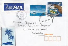 L'Albatros De Carter , Timbre De L'île Cocos (Océan Indien), Sur Lettre Adressée  ANDORRA, Avec Timbre à Date Arrivée - Albatro & Uccelli Marini