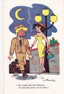 """CPSM Prostituée Prostitution Tapineuse Soldat """"Bleu"""" Humour Illustrateur G. MEUNIER - Meunier, G."""