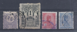 Hongrie 1871-1904.Lot 4Timbres Ob N°12-15-69-104.c.90€ - Ungheria