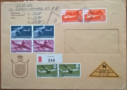 16649# LIECHTENSTEIN HELICOPTERE BOEING CONVAIR DOUGLAS DC 8 LETTRE RECOMMANDEE CONTRE REMBOURSEMENT Obl VADUZ 1960 - Liechtenstein