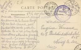 Cachet De L'Hopital Auxiliaire N°4 à Brioude - 13e Corps - Piste De Secours De La Gare - WW1 1915 - FRANCHISE MILITAIRE - Weltkrieg 1914-18