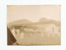Photographie  Aviation Vesoul - 70 - Aviateurs Militaires Biplan Briguet , 5 /09/1911 Photo 5,7 X 8,1 Cm - Aviation