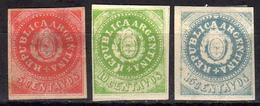 ARGENTINIEN 1862 - MiNr: 5 - 7  * / MLH - Argentinien