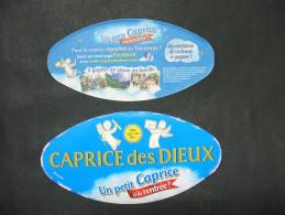 Etiquette Couvercle Fromage CAPRICE DES DIEUX Un Petit Caprice à La Rentrée ? 300g + Contre-étiquette - Fromage