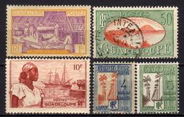 GUADELOUPE - Kleines Lot 5 Verschiedene - Guadeloupe (1884-1947)
