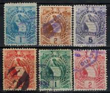 GUATEMALA 1887 - MiNr: 43-97 Lot 6 Verschiedene Used - Guatemala