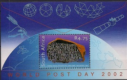 2002 Südafrika Mi. Bl. 89**MNH Weltposttag. - Blocs-feuillets