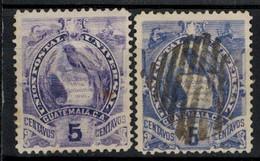 GUATEMALA 1887 - MiNr: 45 I + II  Used - Guatemala