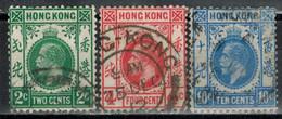 HONGKONG 1912 - MiNr: 99+100+103 Mit Wz: 3  Used - Hong Kong (...-1997)