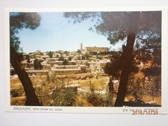 Postcard Jerusalem View From Mt Zion Israel My Ref B1104 - Israel