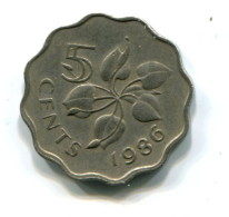 1986 Swaziland 5 Cent Coin - Swaziland