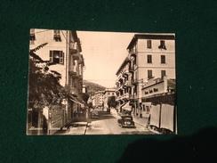 Cartolina Alassio Riviera Dei Fiori Via Mazzini Cinema Teatro Vittoria Auto D'epoca  Viaggiata 1949 - Savona