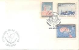 EXPEDICION POLAR ARGENTINA 1965-1966 SOBRE CONMEMORATIVO MAS FDC SERIE COMPLETA AÑO 1968 ANTARCTICS RARE - Postzegels