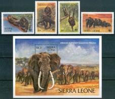 1983 Sierra Leone Scimmie Monkeys Elefanti Elephants Set MNH** Spa22 - Sierra Leone (1961-...)