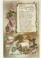 Theme Voeux De Bonheur Cpa Mariage Noces Priere De La Jeune Fille A Marier .... - Noces