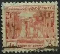 BURMA 1949. I Aniversario De La Independencia.. USADO - USED - Myanmar (Burma 1948-...)