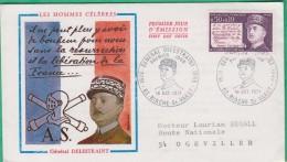 FDC -  Premier Jour - 1971 - Général Delestraint - N°1689 - FDC