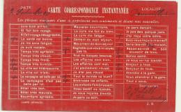 Theme Voeux Cpa Carte Correspondance Instantanee Nouvelles Preimprimées  A Cocher Postee Dauville 1909 - Noces