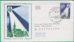 FDC -  Premier Jour - 1971 - Aide Familiale Et Rurale - Maquette De Haley - N°1682 - FDC