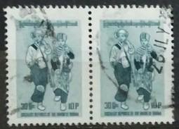 BURMA 1978 Trajes Típicos Birmanos. USADO - USED - Myanmar (Burma 1948-...)