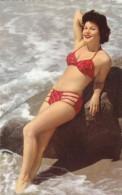 Beautiful Woman Bikini Beach Pin-up, C1950s Vintage Postcard - Pin-Ups