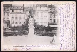 France Caen 19. 3. 1902 / Statue D' Aubert / Monument / Sent To Sofienthal - Caen