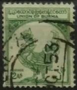 BURMA 1952. I Aniversario De La Independencia. USADO - USED - Myanmar (Burma 1948-...)