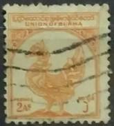 BURMA 1954. I Aniversario De La Independencia. USADO - USED - Myanmar (Burma 1948-...)