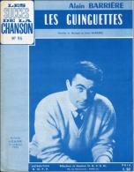61 80 PARTITION ALAIN BARRIÈRE LES GUINGUETTES 1966 PIANO GUITARE ACCORDÉON - Musique & Instruments