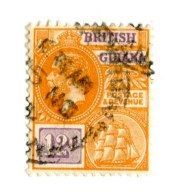 3322 W -theczar- 1921  Sc.196 (o)  Offers Welcome! - British Guiana (...-1966)