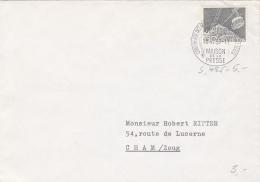 No 306 Sur Lettre Oblitérée Par Le Cachet S.485 - Conférence Des Ministres, Maison De La Presse - Schweiz