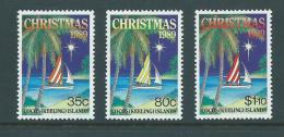 Cocos Keeling Island 1989 Christmas Set 3 MNH - Islas Cocos (Keeling)