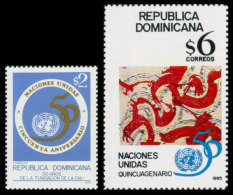 Dominican Republic, 1995, United Nations 50th Anniversary, MNH, Michel 1757-1758 - Dominican Republic
