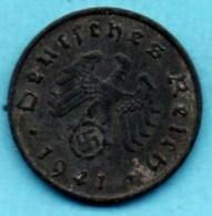 R7/ GERMANY  3° REICH   10  REICHS PFENNIG  1941 A