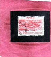 PERU´ 1962 FORTALEZA DE PARAMONGA RUINAS INCAICAS FORTEZZA ROVINE INCAS SOL 1 S USATO USED OBLITERE' - Peru