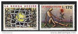 1977 - Italia 1363/64 Contro La Droga - Droga