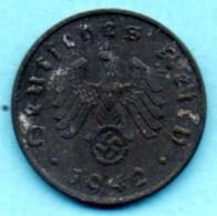 R7/ GERMANY  3° REICH   10  REICHS PFENNIG  1942 A