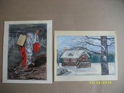 2 Peintures De D.NORMAND 1994 - Gouaches