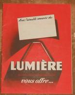 Lumière Vous Offre… Plaquette De Présentation De La Société Lumière - Publicités