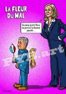 PYB: La Fleur Du Mal [ Satire Politique Sarkozy Le Pen ] Tirage 30 Ex. - Illustrateurs & Photographes